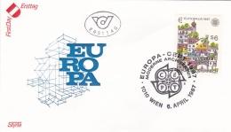 Austria 1987 FDC Europa CEPT (T17-12)