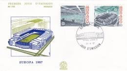 Monaco 1987 FDC Europa CEPT (T17-12)