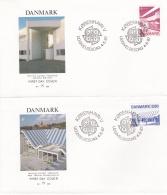 Denmark 2 Covers 1987 FDC Europa CEPT (T17-12)