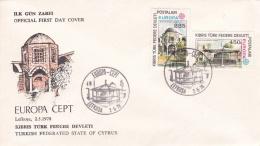 Turkish Cyprus 1978 FDC Europa CEPT (T17-12)