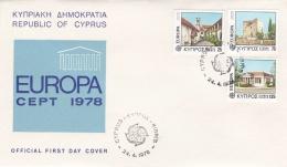 Cyprus 1978 FDC Europa CEPT (T17-12)