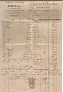 Facture , Materiaux De Construction, MONET Ainé , CHATELLERAULT , 1885 , VIENNE , Timbrée , Frais Fr : 1.55& - 1800 – 1899