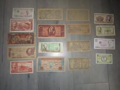 Lot De 17 Billets Viet Nam