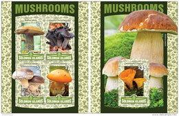 SOLOMON ISLANDS 2016 ** Mushrooms Pilze Champignons M/S+S/S - OFFICIAL ISSUE - A1631