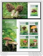 SOLOMON ISLAND 2014 ** 2 S/S Mushrooms Pilze Champignons A1504