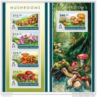 SOLOMON ISLAND 2015 ** M/S + S/S Mushrooms Pilze Champignons - OFFICIAL ISSUE - A1534