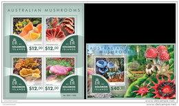 SOLOMON ISLAND 2015 ** Australian Mushrooms Pilze M/S + S/S - OFFICIAL ISSUE - A1541