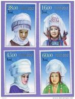 2012 Kyrgyzstan. National Feminine Headdresses - Elechek.Mi# 702A-705A