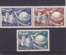 Monaco Poste Aérienne N° 45-47 Neufs * & 46 Oblitéré - Voir Verso -
