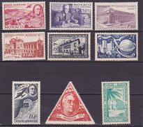 Monaco Poste Aérienne N° 19-20-21-22-23-24-37-38-45- Neufs * - Voir Verso -