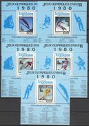 Togo 1980 Olympic Games Lake Placid Set Of 5 S/s MNH -scarce-