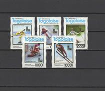 Togo 1980 Olympic Games Lake Placid Set Of 5 MNH -scarce-