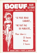 BRUXELLES-PORTE DE NAMUR-CHAUSSEE D'IXELLES-CABARET BOEUF SUR LE TOIT-FLOOR SHOW - Places, Squares