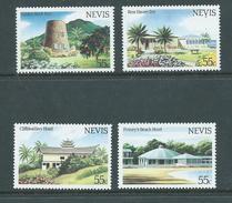 Nevis 1984 Tourism Hotel Scenes Set (4) MNH , 1 With Some Gum Glaze