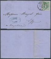 AO368 Lettre Privée De Verviers En Ville 1873 - Non Classés