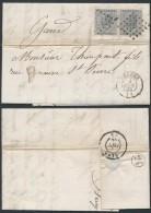 AO380 Lettre Oblitération58 De Bruges à Gand 1866 - Non Classés
