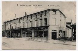 Carte Postale Saint Dizier Rue Du Marché Bazar Parisien Emile Courtois CPA - Saint Dizier