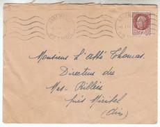1944 - Lettre - Oblitération Krag De Annemasse (Haute-Savoie) + Pétain Y&T N°517 - FRANCODE PORT - Postmark Collection (Covers)