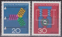 Série De 2 Timbres-poste Neufs** - Transmission Triphasée Dynamo électrique - N° 378-379 (Yvert) - RFA 1966