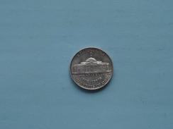 1945 D - Five Cents / KM 192a ( Details Zie Foto ) ! - 1938-…: Jefferson