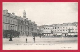 CPA Les Andelys - La Place Nicolas Poussin - Les Andelys