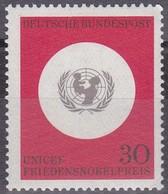 Timbre-poste Neuf** - U.N.I.C.E.F. Prix Nobel De La Paix - N° 384 (Yvert) - RFA 1966