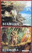 FREE POSTAGE!! Bermuda 2005 Birds, Vögel, Oiseaux, Uccelli, Aves, Owl, Tropicbird, 2v Part, Used, Gestempelt, Vg