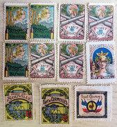 RARE Ww1 Lot 24 Timbres- Vignettes Delandre Forts & Places De Guerre Erinnophilie Postage Inclus Pour Europe - 1914-18