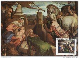 7293 Austria,  Maximum 2012, Painting Of Jacopo Da Ponte,  Weihnachten  Anbetung Der Konige