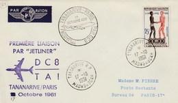 Madagascar - Première Liaison Tananarive-Paris - 1961 - DC8 - TAI