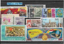 Francobolli Francobollo World Stamps Stamp Asia  Number Numero 18 Pezzi - Francobolli