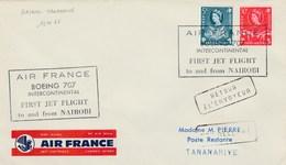 Kenya - First Jet Flight Air France To And From Nairobi - Boeing 707 1961 - Kenya, Oeganda & Tanganyika