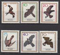 DDR / Europäische Greifvögel / MiNr. 1147-1152