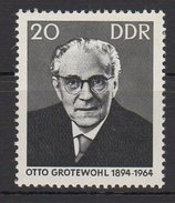 DDR / 1. Todestag Von Otto Grotewohl / MiNr. 1153