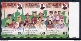 BRUNEI 1994 Day Against Drug Abuse Strip MNH / **.  SG 540-42 - Brunei (1984-...)