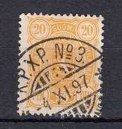 "Finnland 20 P Wappen 1885 - ""K.P.X.P. Nr. 3"" 2 Kreis Gestempelt - 1856-1917 Administration Russe"