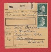 Paketkarte  --  Pravali -- - Germania