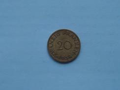 1954 - Zwanzig Franken 20 - KM 2 ( Details Zie Foto ) ! - Saarland