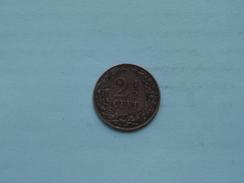 1906 - 2 1/2 Cent / KM 134 ( Details Zie Foto ) ! - [ 3] 1815-… : Kingdom Of The Netherlands