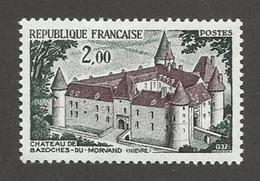 France - YT 1726 - Série Touristique - Chateau De Bazoches-du-Morvand (1972)
