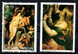 St THOMAS. N°1012-3 Oblitérés De 1990. Tableaux De Rubens.