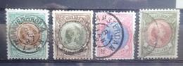 NEDERLAND    1893      Nr. 45 - 48           Gestempeld    CW 800,00