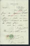 FACTURE DE 1933 RENÉ DAVID JOAILLIER À PARIS RUE DAUNOU : - Petits Métiers