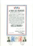FRANCE ENCART DE L'APPEL DU 18 JUIN 1940 Avec La Bande Oblitérée Du 9.11.1971 Tb - De Gaulle (General)