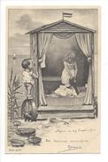 16855 - Cabine Plage La Fillette Se Déshabille Et Le Petit Garçon Regarde Nénuphars Série 70/IV - Enfants