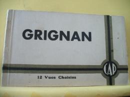 B7 5061 - 26 GRIGAN - CARNET DE 12 VUES + 2 TICKETS ENTREE VISITE 1940 - Grignan