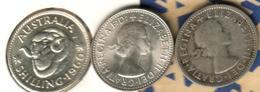 AUSTRALIA 1 SHILLING RAM ANIMAL FRONT QEII HEAD BACK 1960 2ND TYPE CV$5AUS F+ SILVER KM59 READ DESCRIPTION CAREFULLY !!! - Monnaie Pré-décimale (1910-1965)
