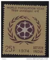 India MNH 1974, World Population Year.,