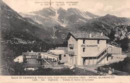 """D5930 """"(TO) SALUTI DA CERESOLE REALE - ALTA VALLEORCO - ALTITUDINE 1560 - HOTEL BLANCHETTI""""  ANIMATA. CART  SPED 1925 - Other Cities"""