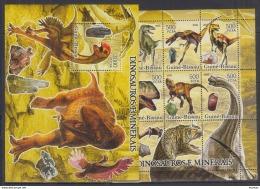 P40 Guinea-Bissau - MNH - Animals - Prehistorics - Minerals - 2005